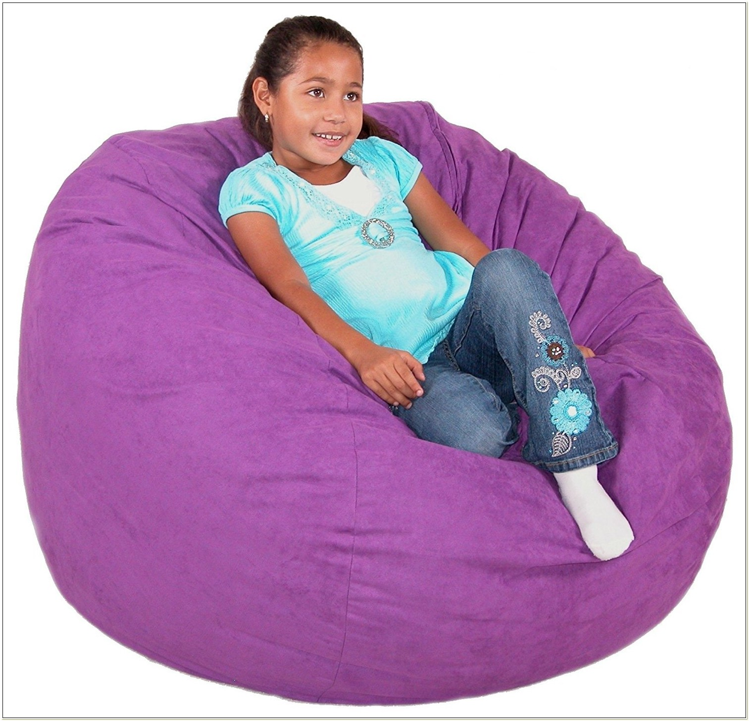 Purple Microfiber Bean Bag Chair