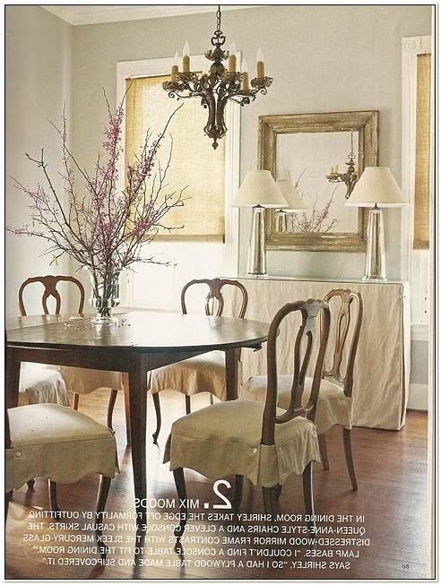 Queen Anne Dining Chair Slipcovers