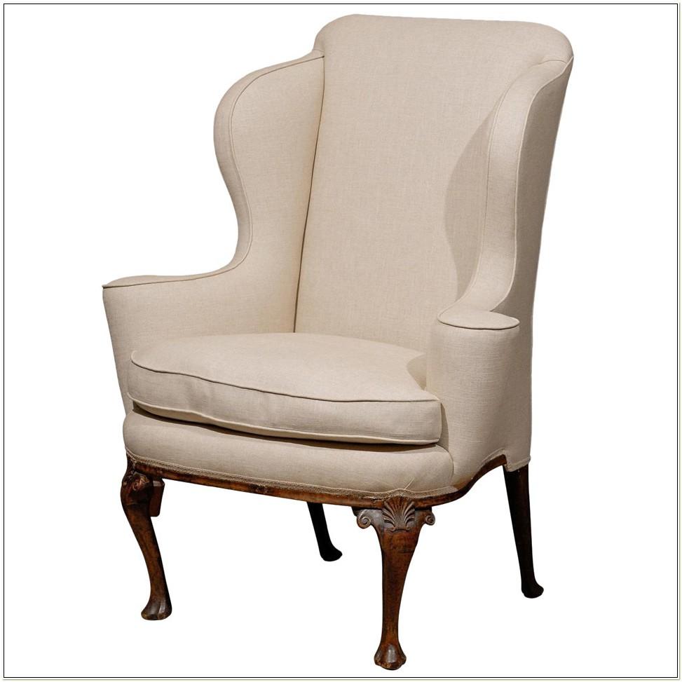 Queen Anne Wingback Chair Ireland