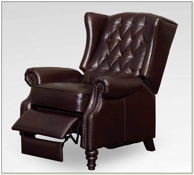 Queen Anne Wingback Chair Recliner