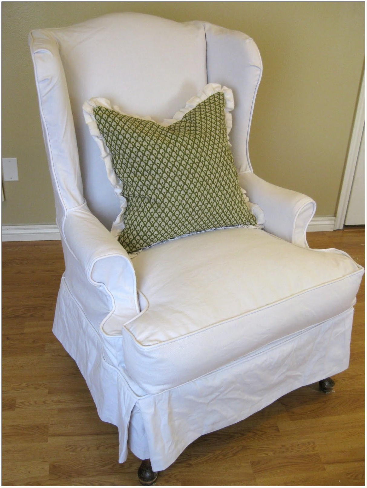 Queen Anne Wingback Chair Slipcovers