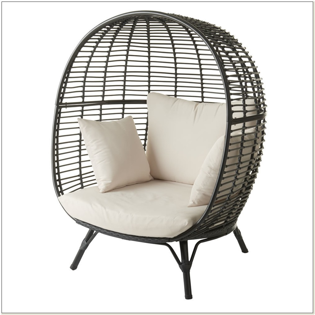 Rattan Effect Hanging Egg Chair