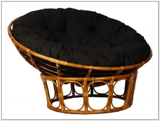Rattan Papasan Chair With Cushion