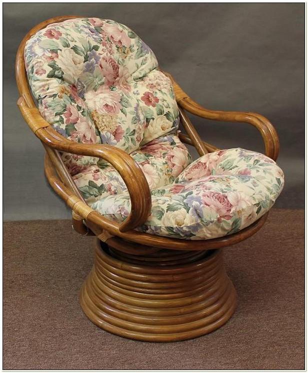 Rattan Swivel Rocker Chair Cushions