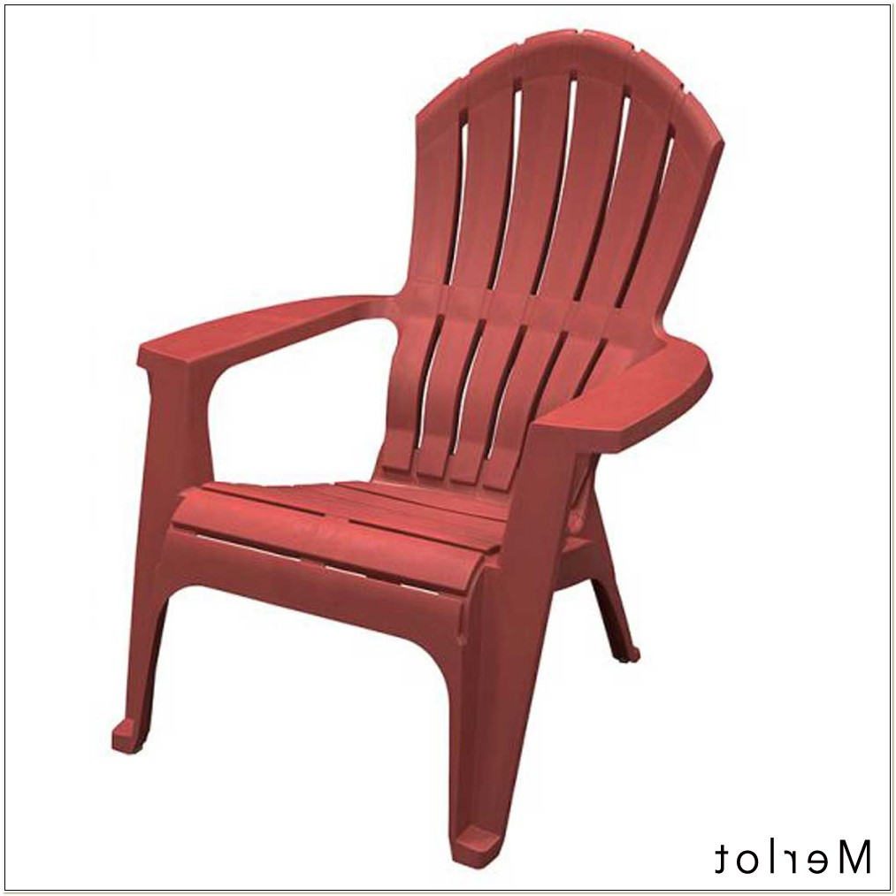 Real Comfort Adirondack Chair Red