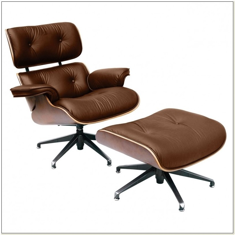 Real Leather Reclining Chair And Footstool