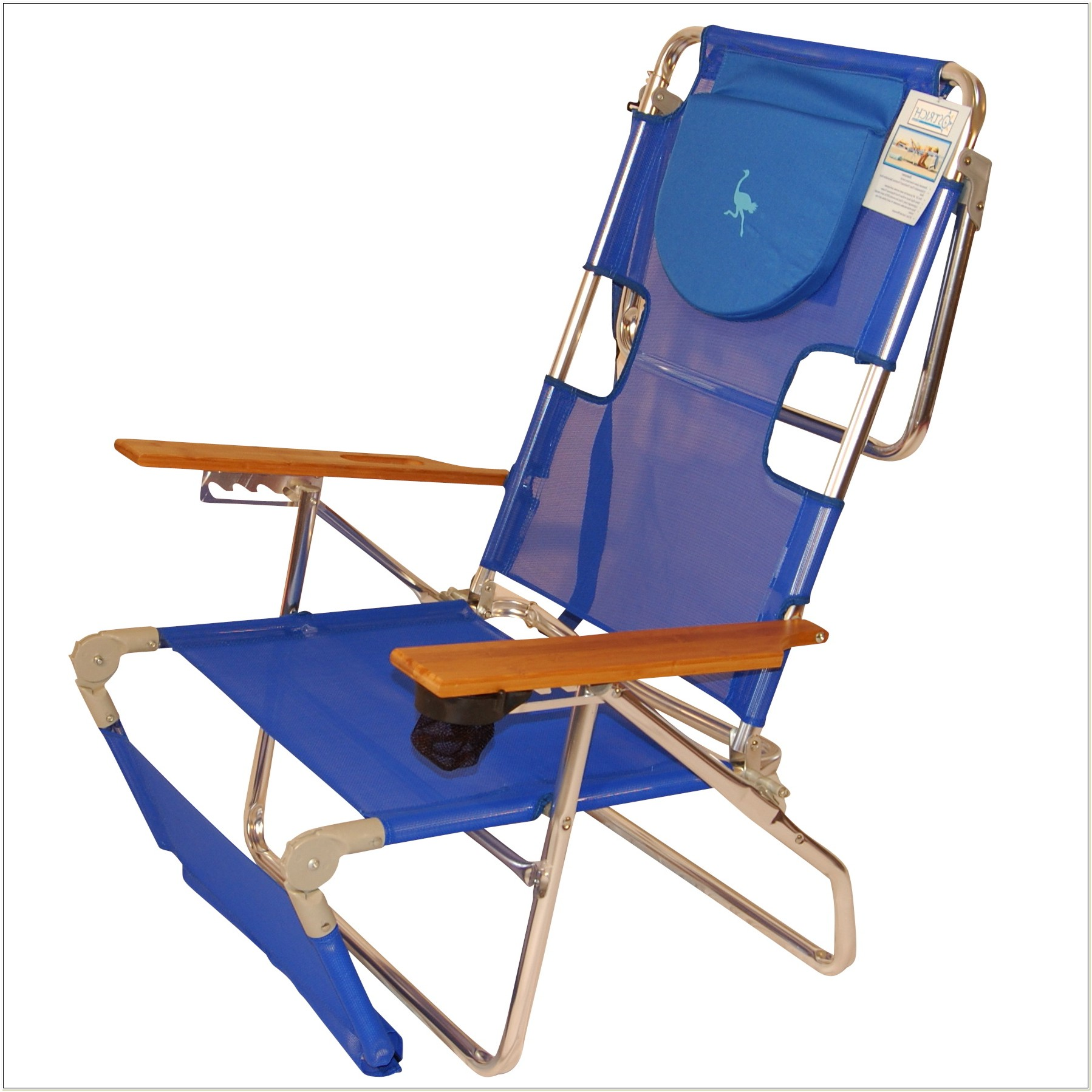 Reclining Folding Beach Chair With Footrest