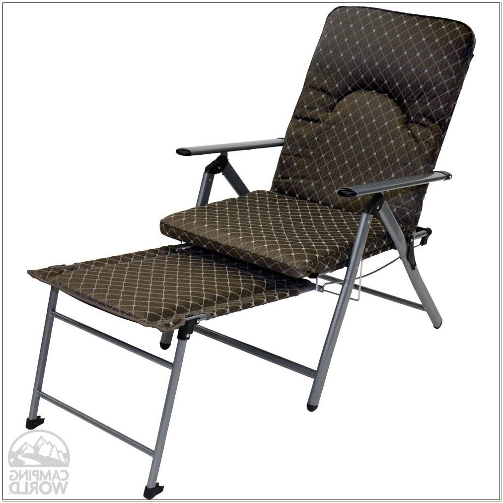 Reclining Lawn Chair With Footrest