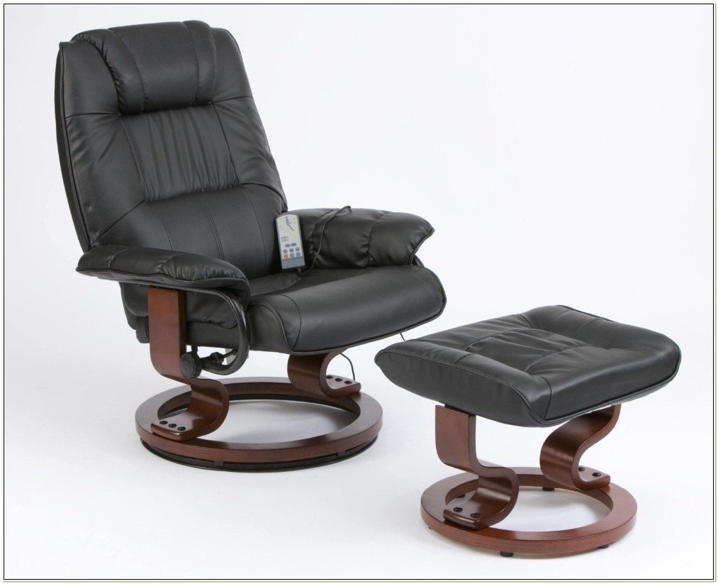 Reclining Massage Chair With Footstool