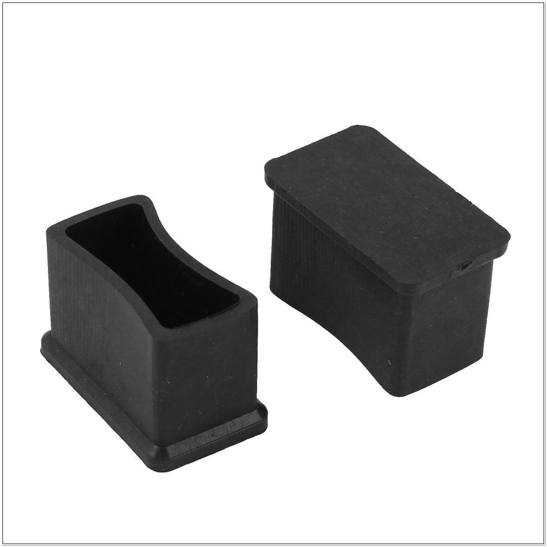 Rectangular Rubber Chair Leg Caps