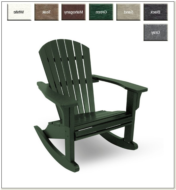Recycled Plastic Adirondack Rocking Chairs