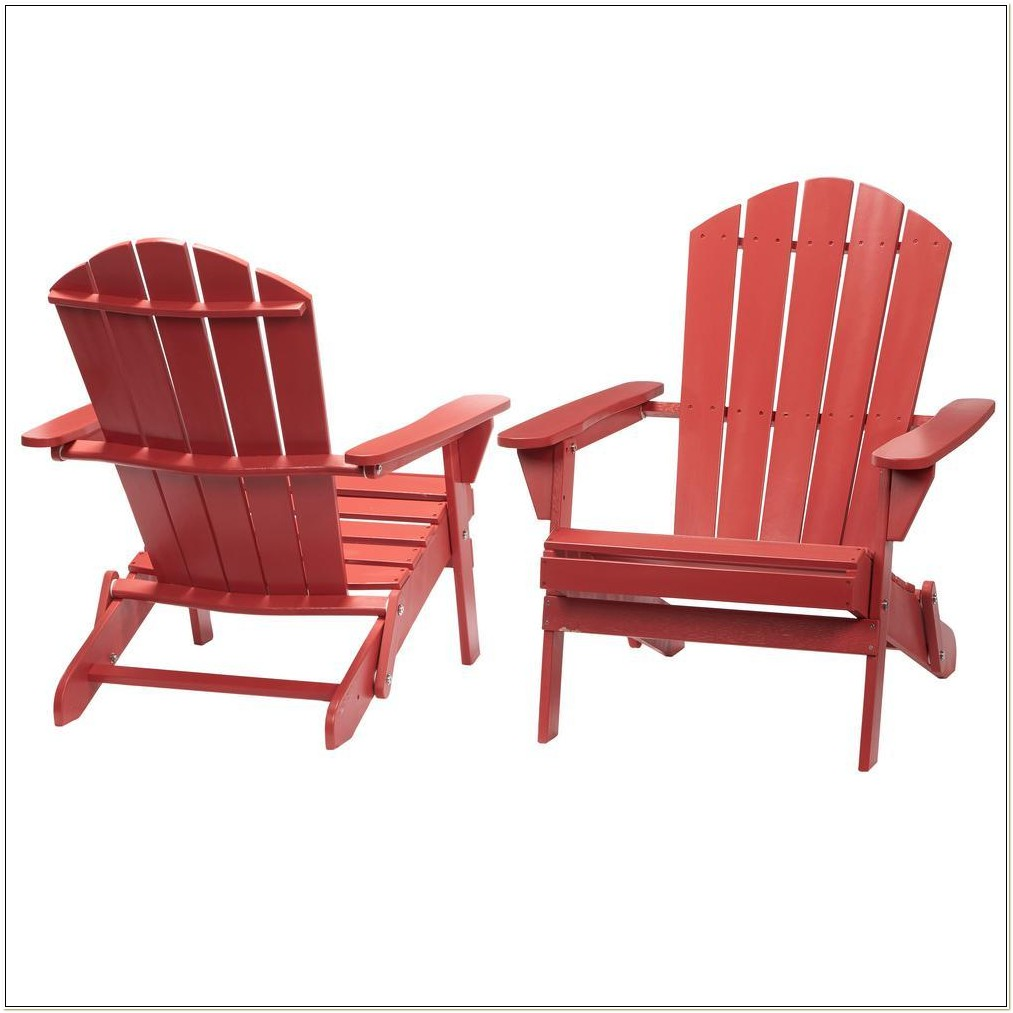 Red Adirondack Chairs Home Depot