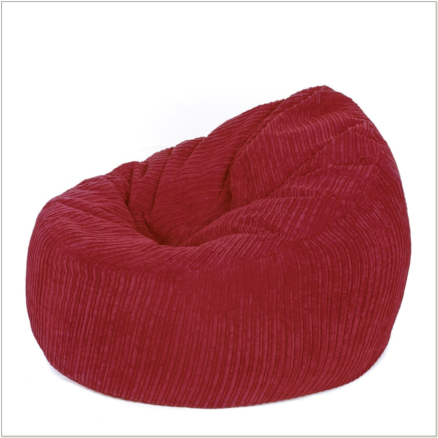 Red Corduroy Bean Bag Chair