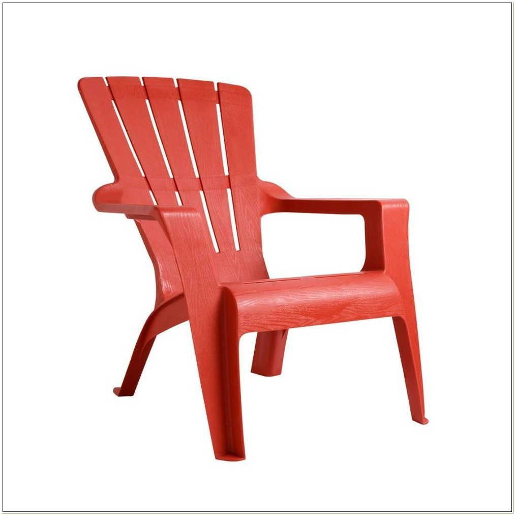 Red Plastic Adirondack Chairs Home Depot