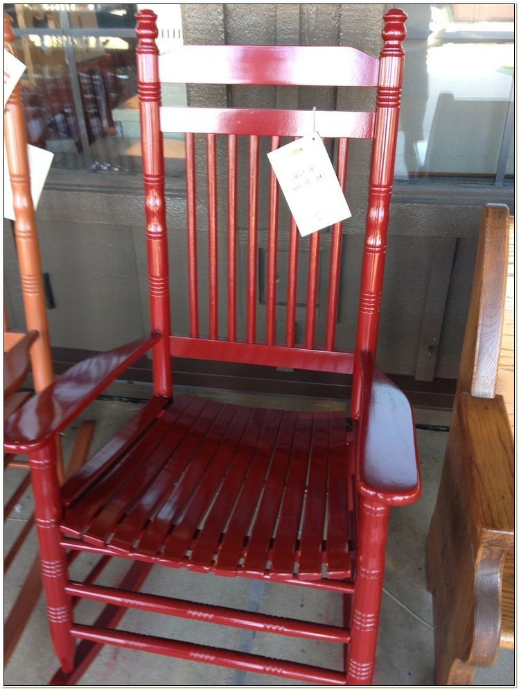 Red Rocking Chair Cracker Barrel