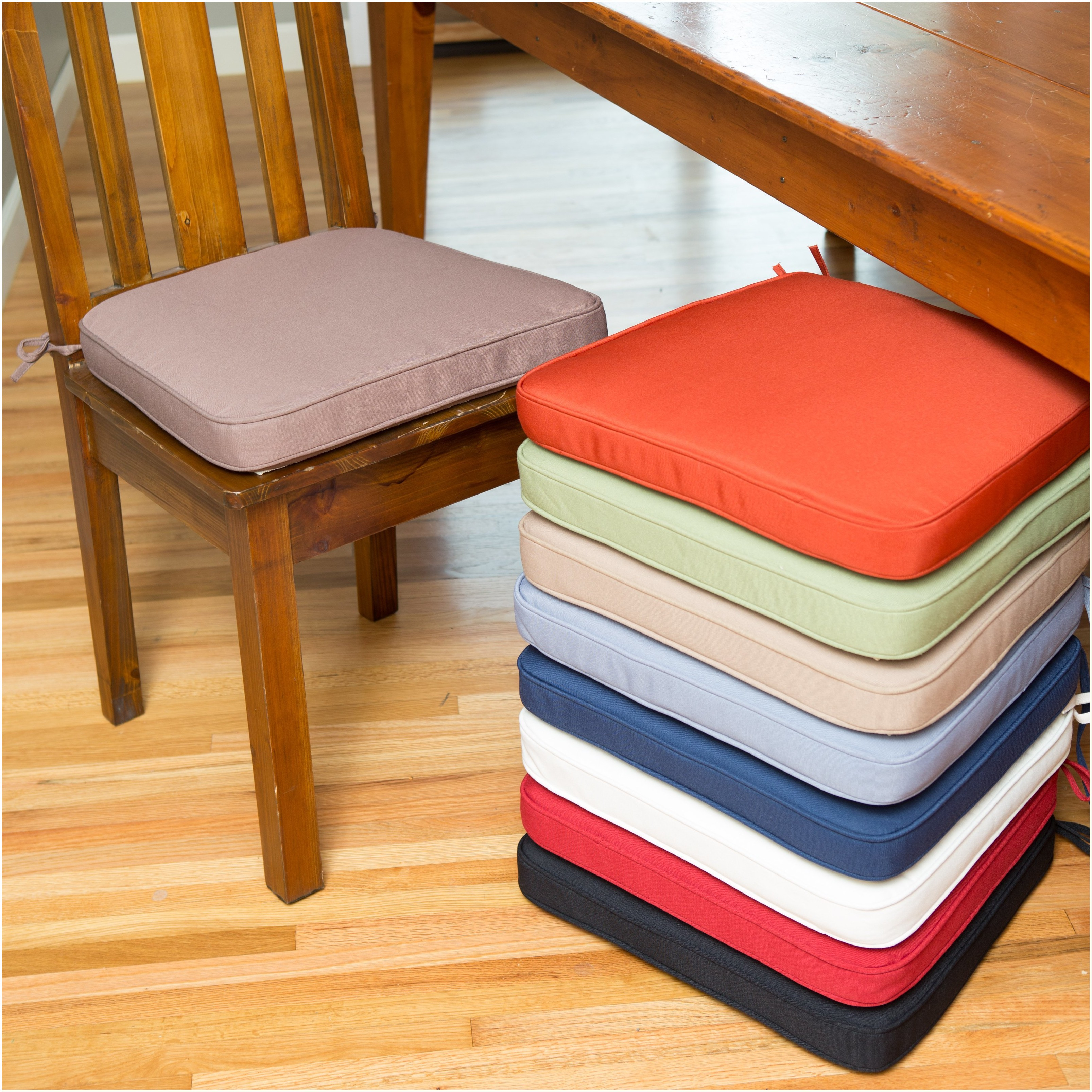 Red Seat Pads Dining Chairs