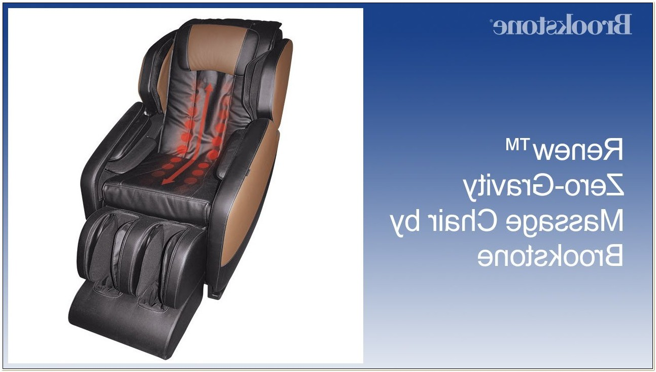 Renew Zero Gravity Massage Chair By Brookstone