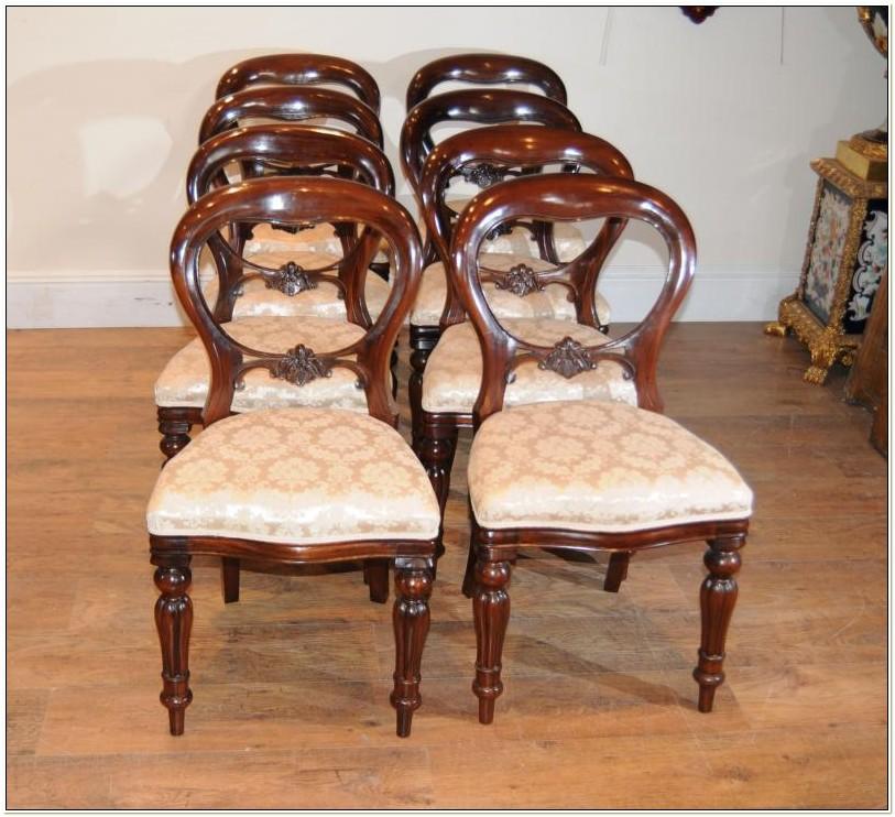 Reproduction Mahogany Balloon Back Chairs