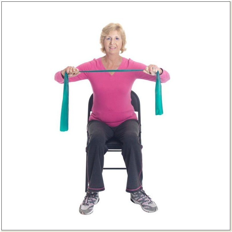Resistance Band Chair Exercises For Seniors