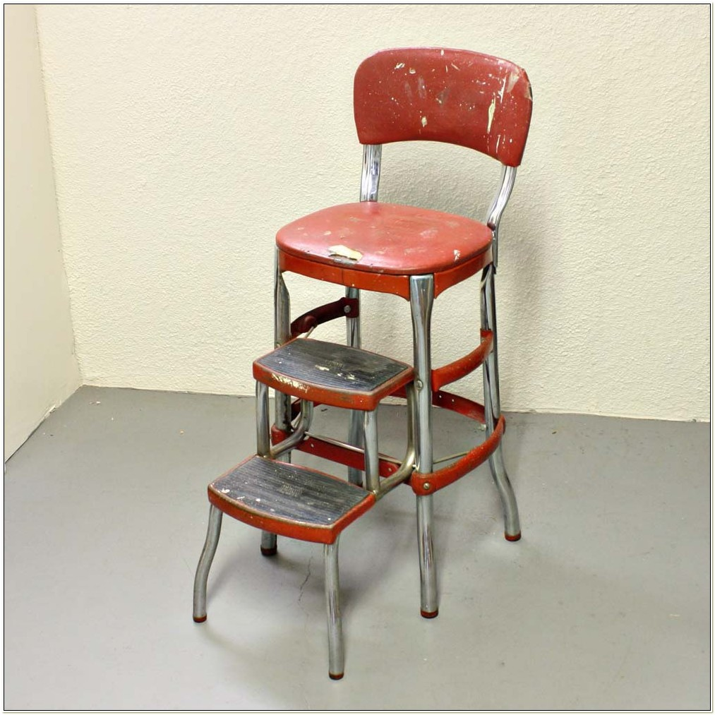 Retro Counter Chair Step Stool