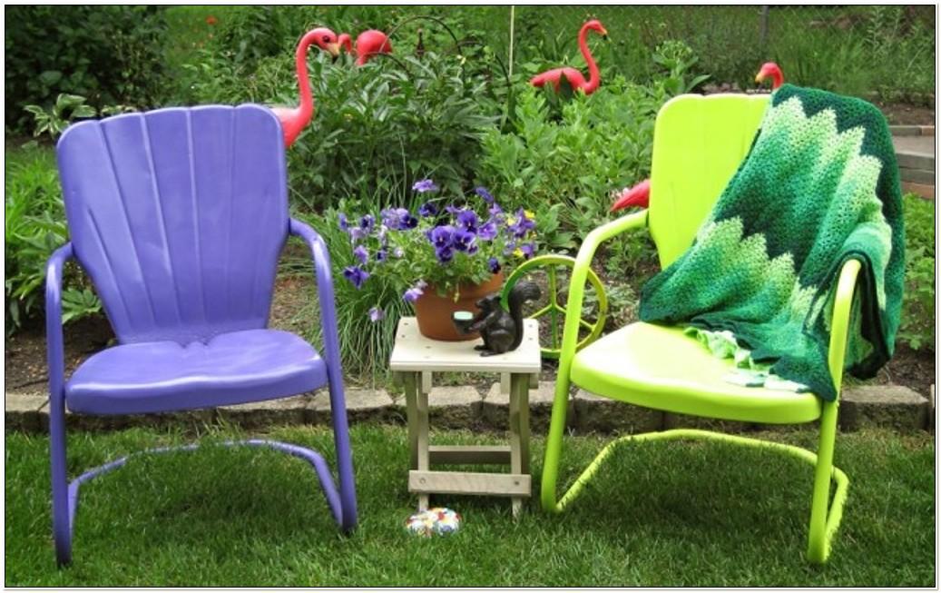 Retro Metal Tulip Chairs