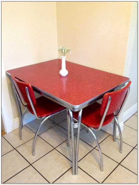 Retro Red Formica Table And Chairs