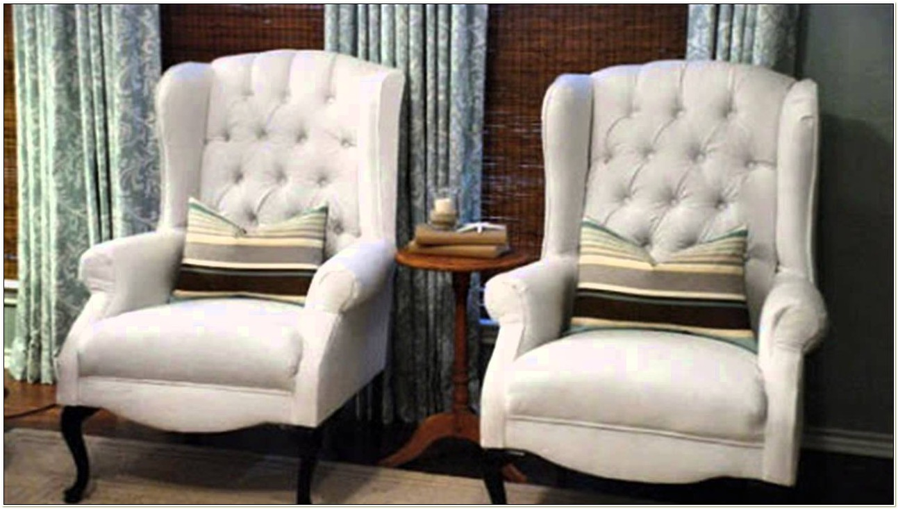 Reupholster Wingback Chair With Buttons