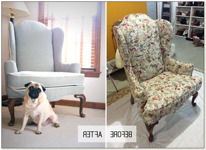 Reupholstering A Wingback Chair Tutorial