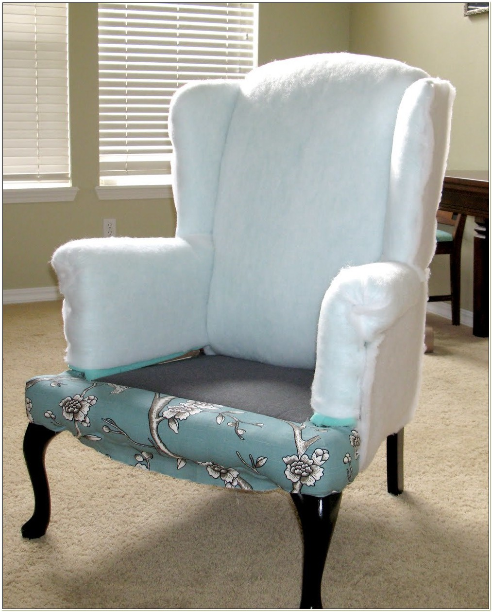 Reupholstering A Wingback Chair Video