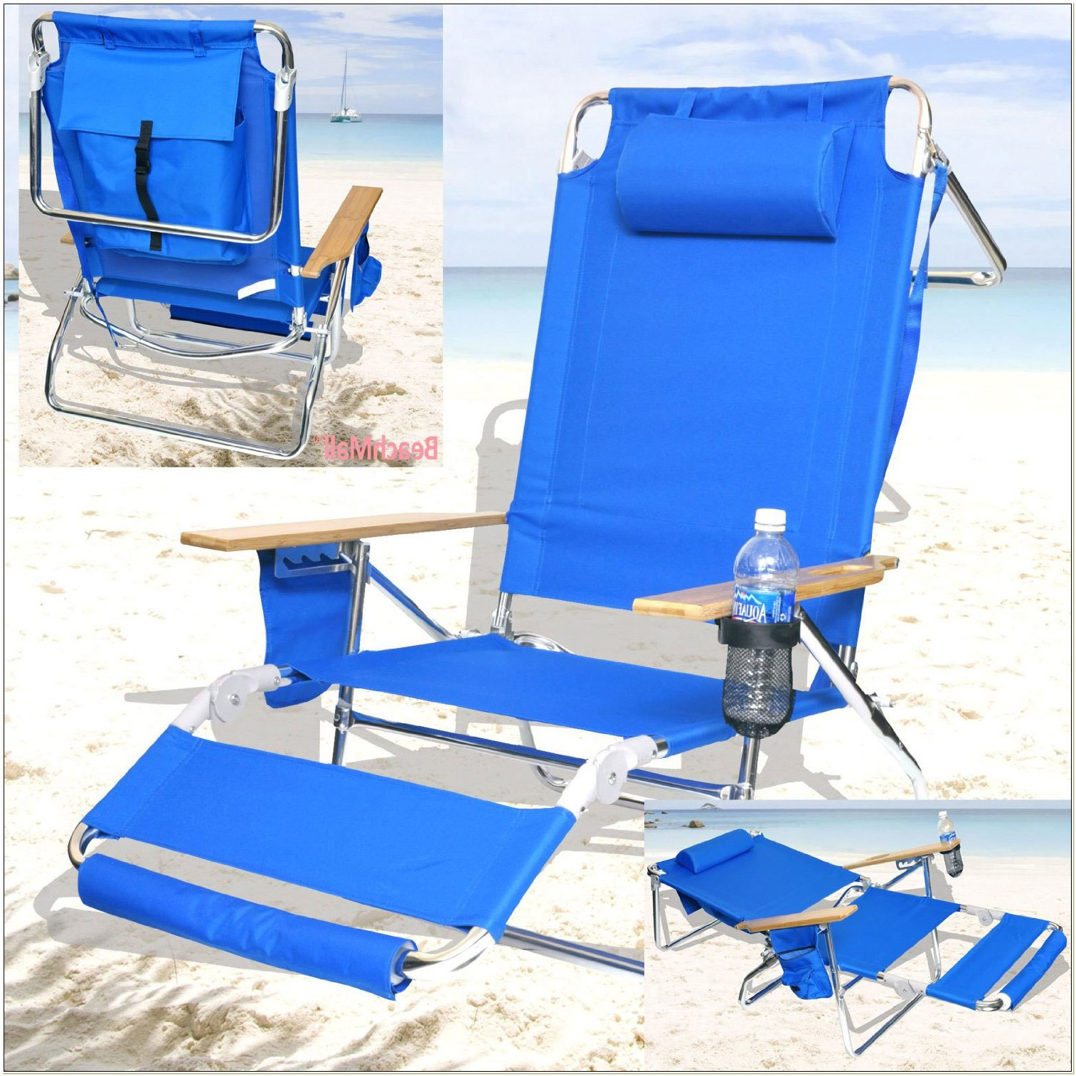 Rio Beach Chairs With Footrest Backpack
