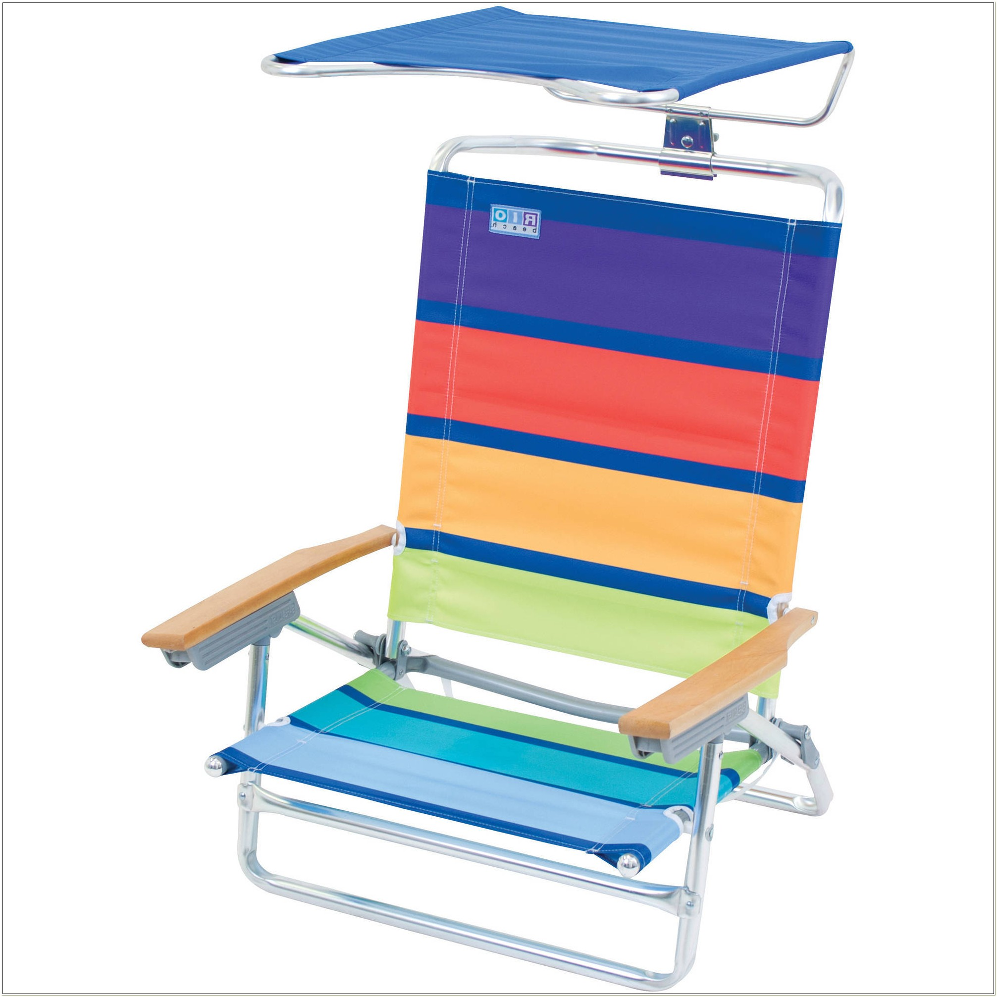 Rio High Back Beach Chair With Canopy