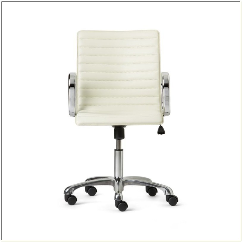 Ripple White Leather Office Chair