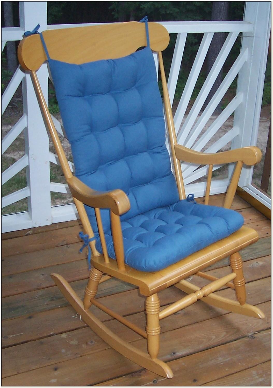 Rocking Chair Cushion Set Blue