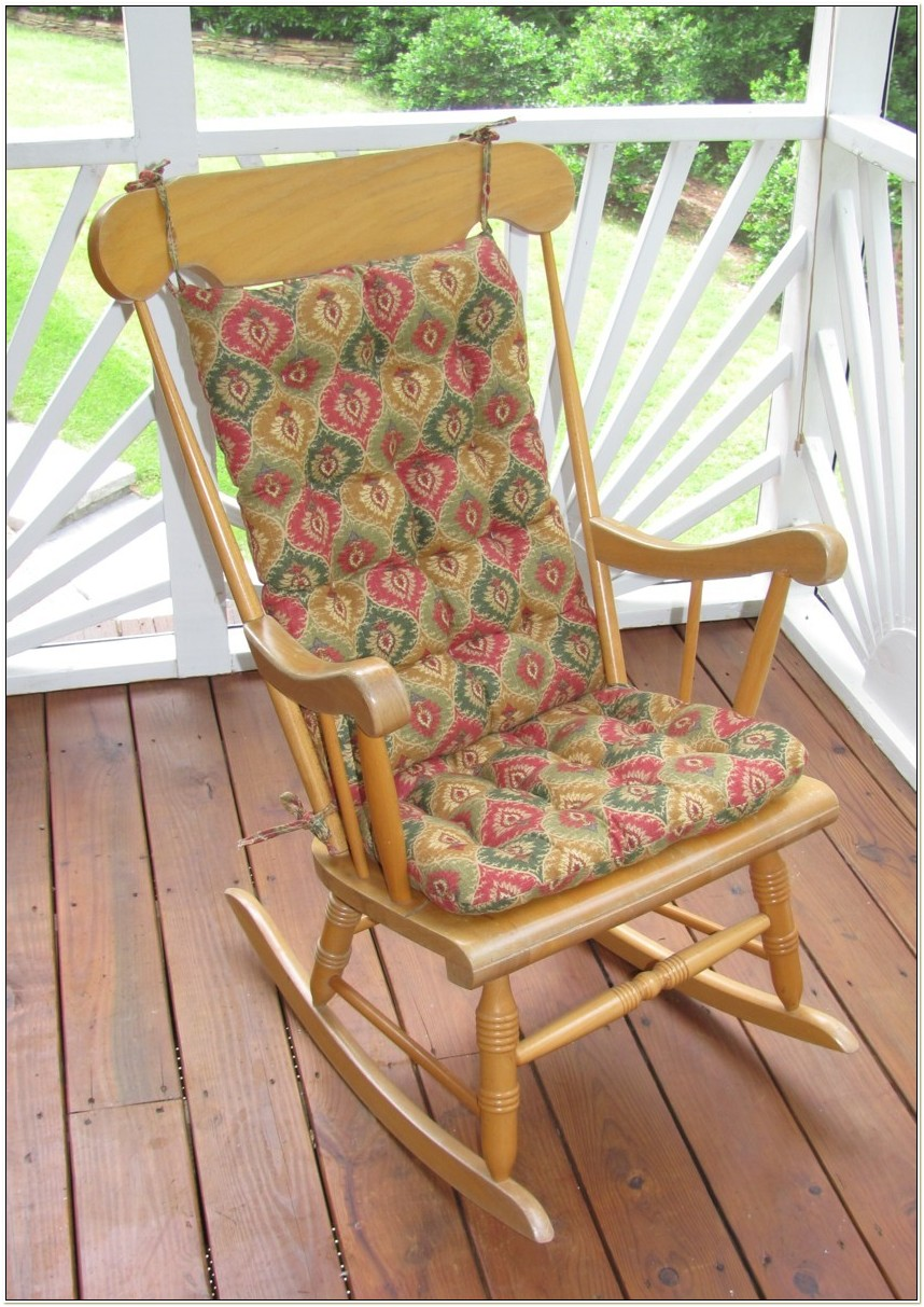 Rocking Chair Cushion Set With Skirt