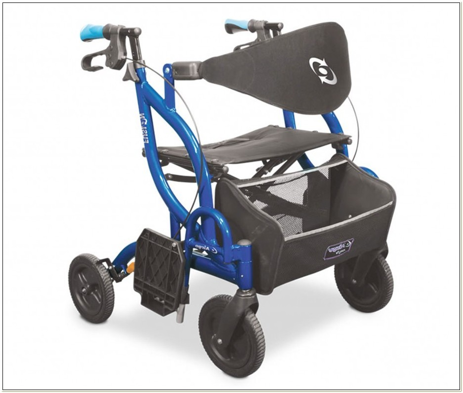 Rollator Walker Transport Chair Combo