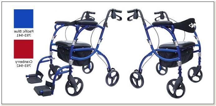 Rolling Walker Transport Chair