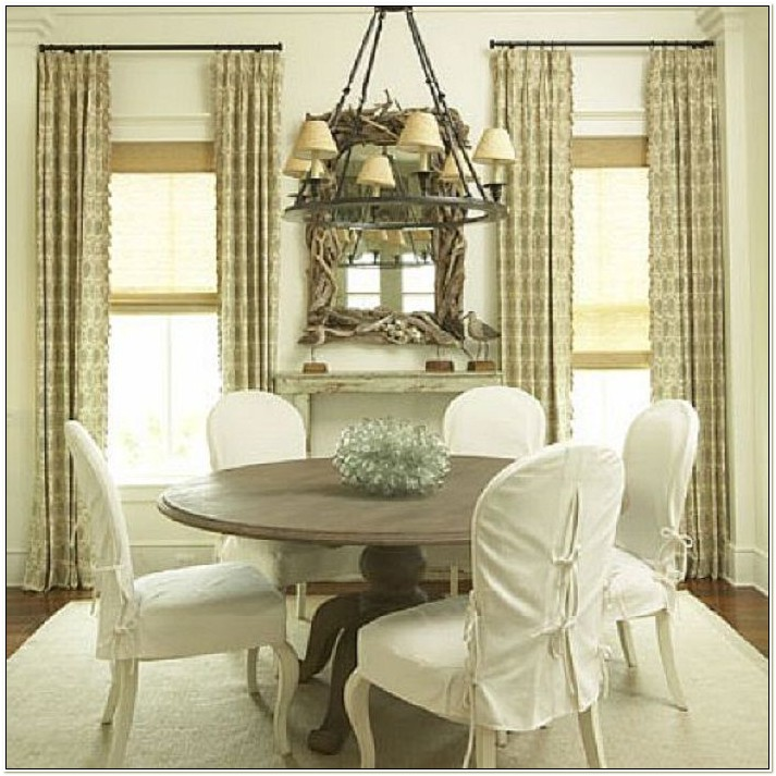 Round Back Dining Room Chair Slipcovers