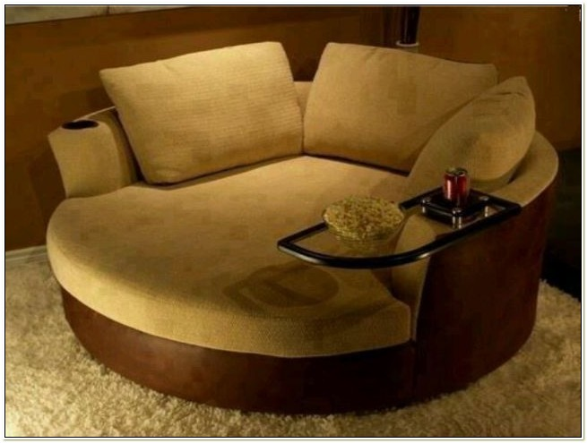 Round Chair And A Half Swivel