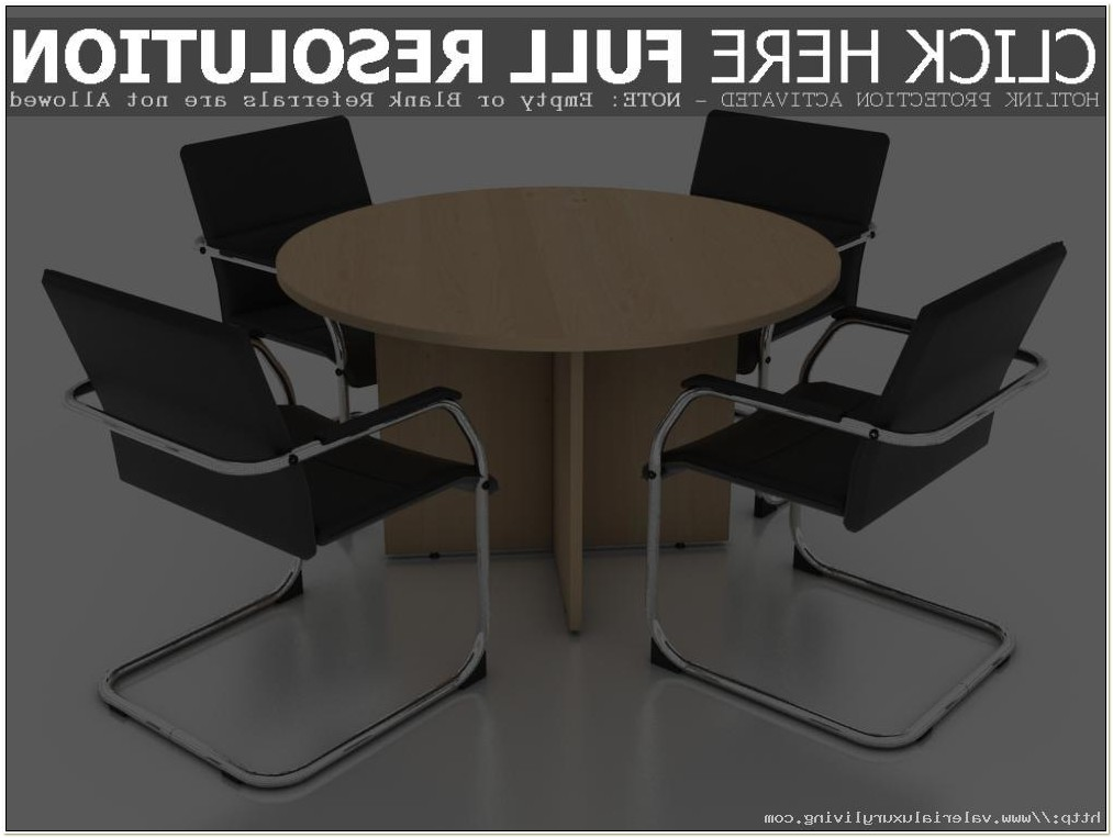 Round Conference Table 4 Chairs
