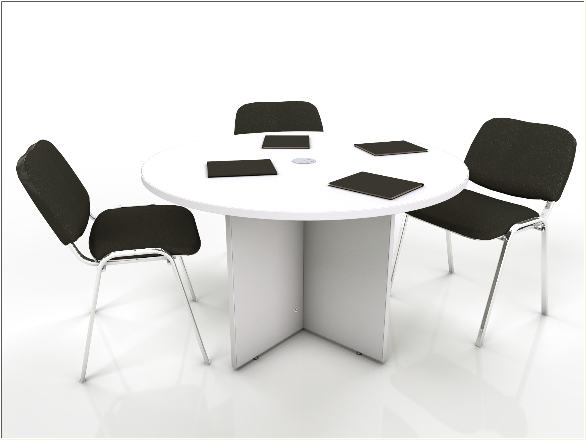 Round Conference Table And Chairs