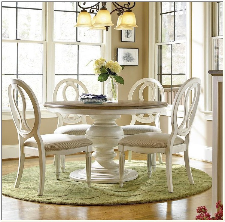 Round Extendable Kitchen Table And Chairs