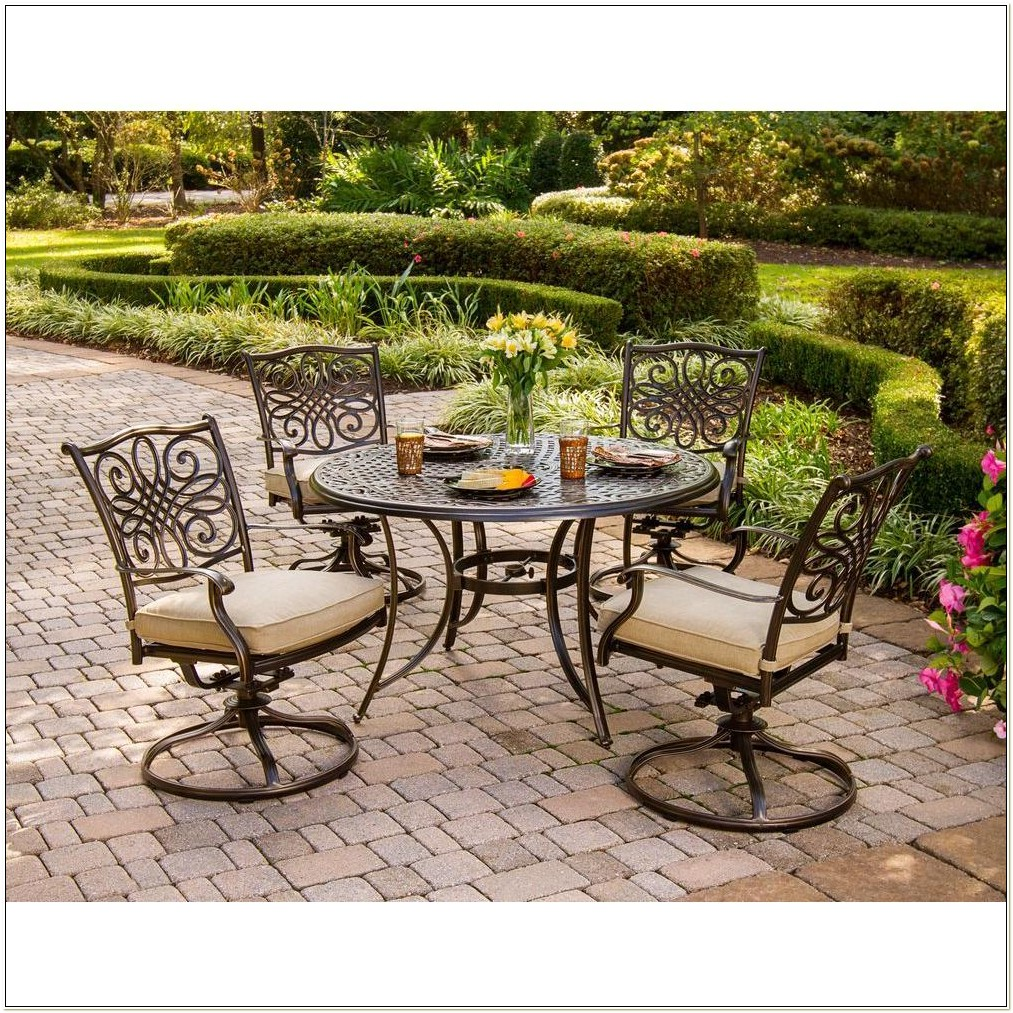 Round Patio Dining Sets With Swivel Chairs