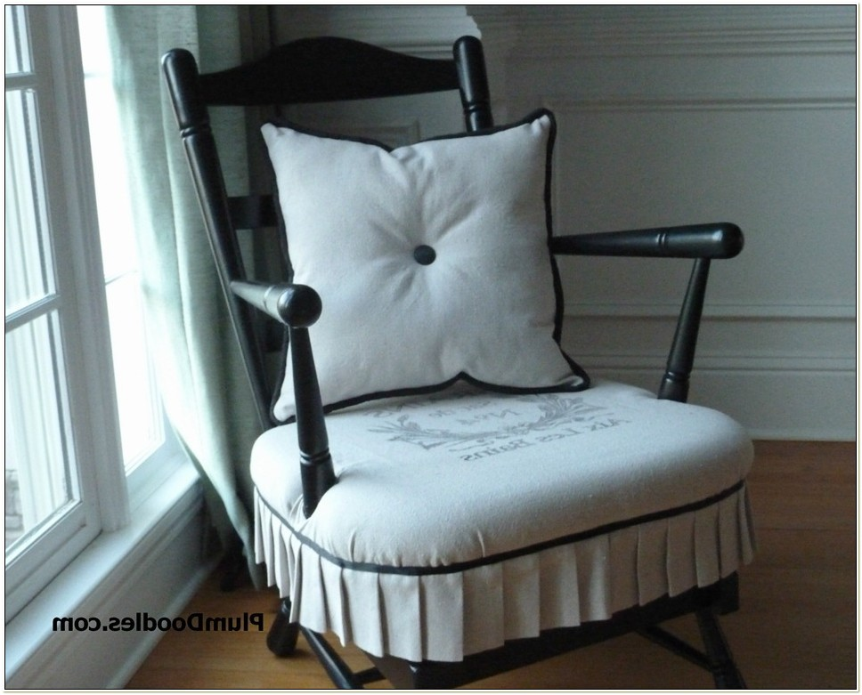 Ruffled Rocking Chair Cushions