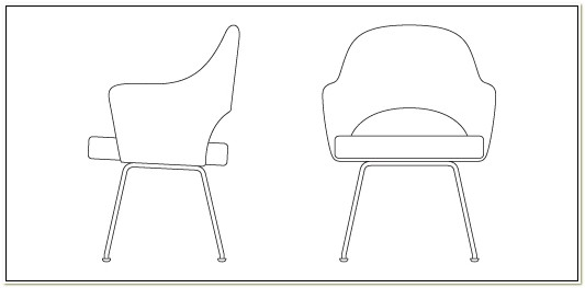 Saarinen Executive Arm Chair Dwg