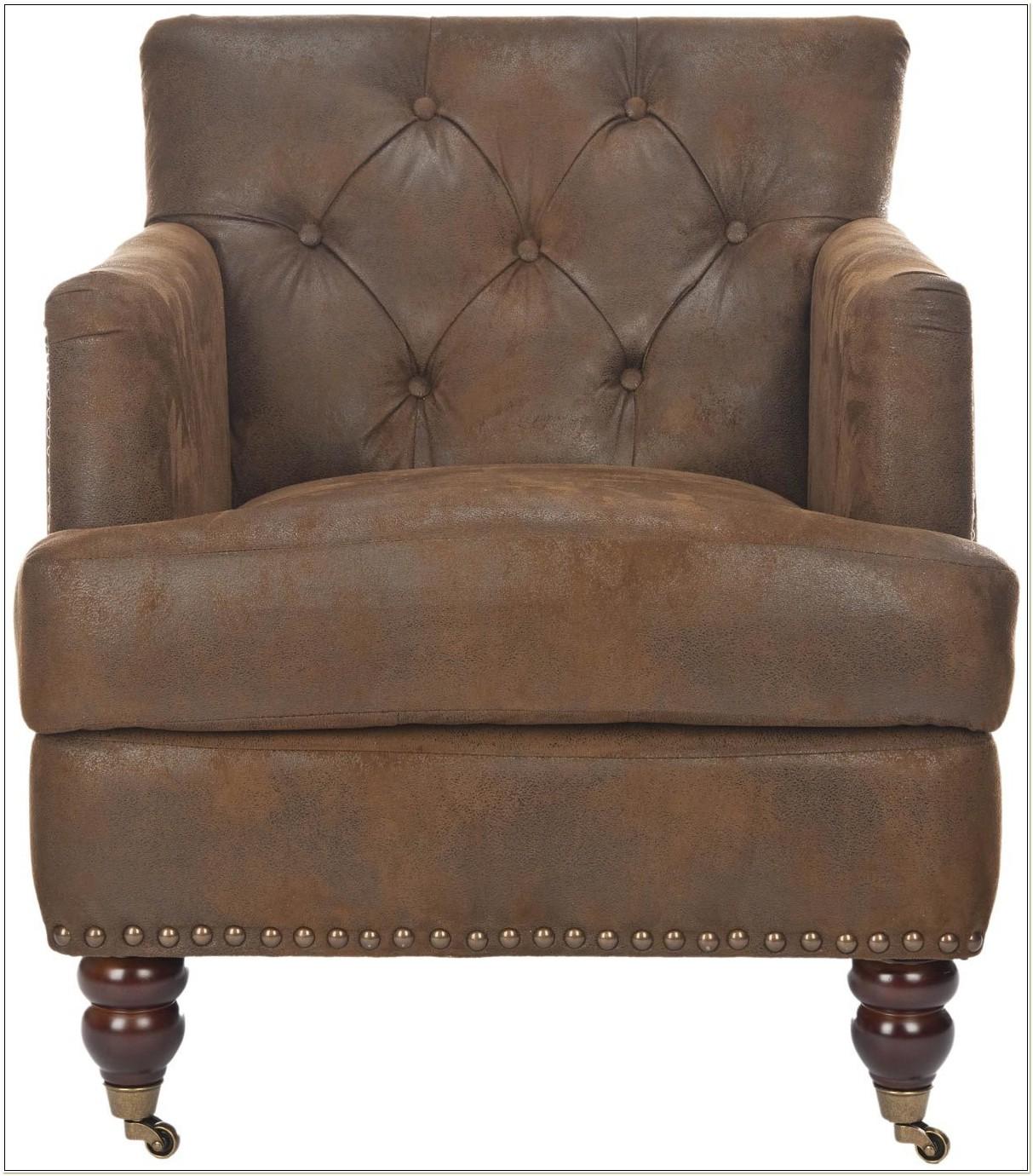 Safavieh Colin Leather Tufted Club Chair