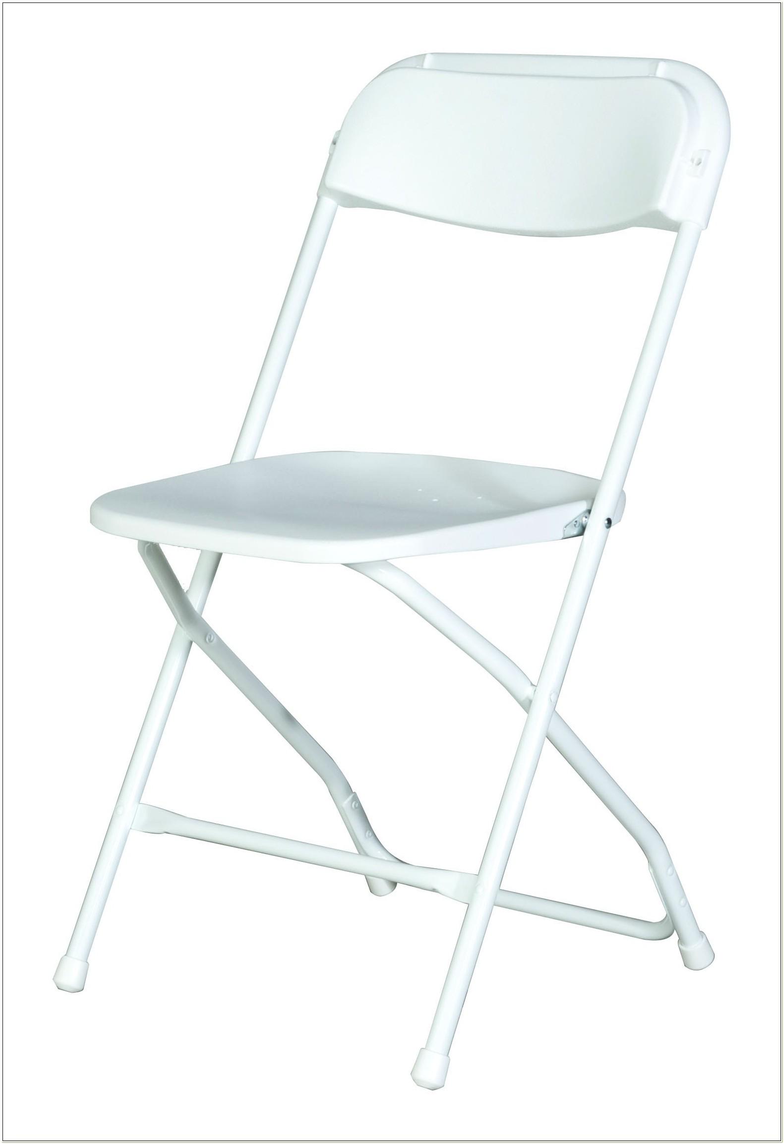 Samsonite White Plastic Folding Chairs