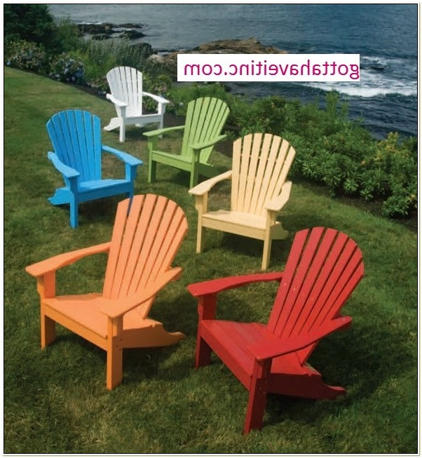 Seaside Casual Shellback Poly Adirondack Chair
