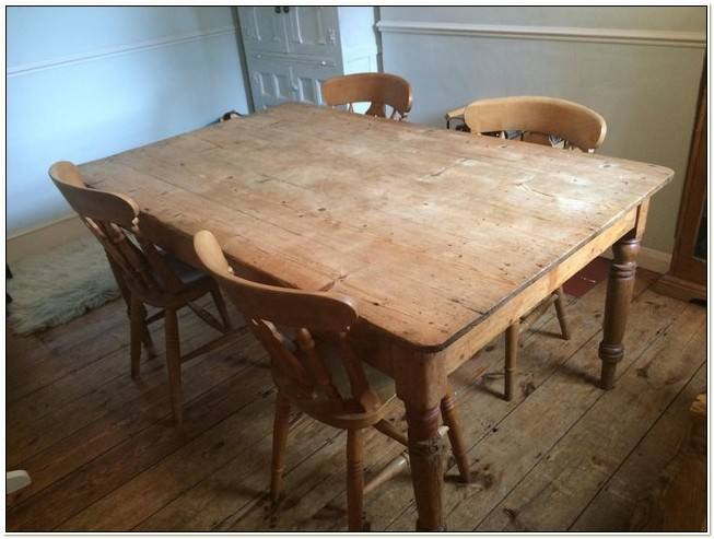 Second Hand Farmhouse Table And Chairs