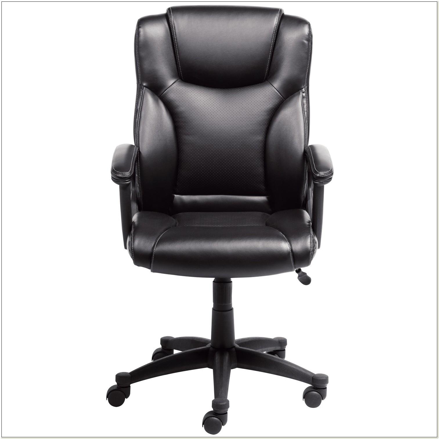 Serta 43672 Bonded Leather Executive Chair Black