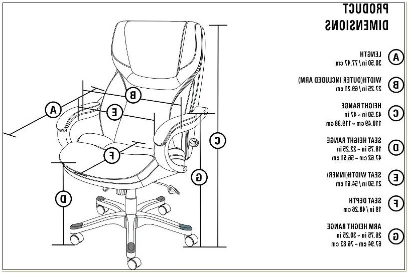 Serta Big And Tall Executive Chair Manual